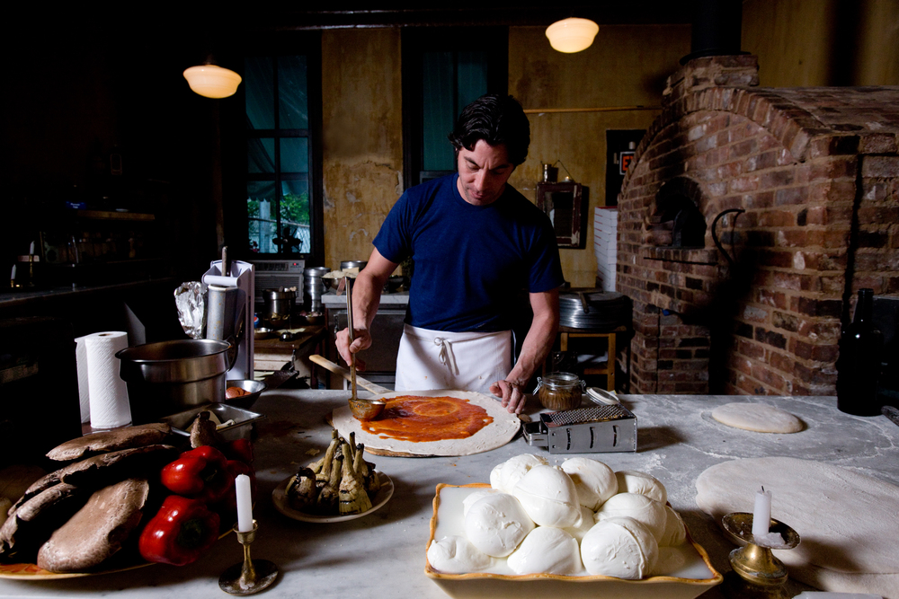 Mark Iacono, a stone-mason-turned-pizzaiolo, makes sublime pizza at Lucali, his small restaurant in Carroll Gardens, Brooklyn.