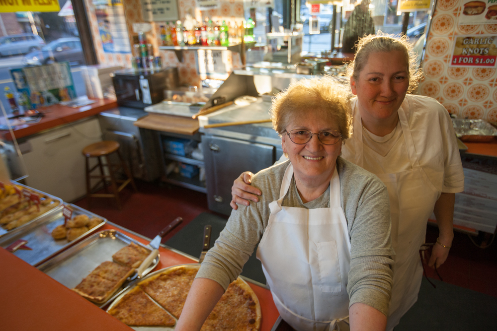This mother and daughter team, who together run the show at John's Pizza in Elmhurst, are a rare example of female pizza makers in NYC.
