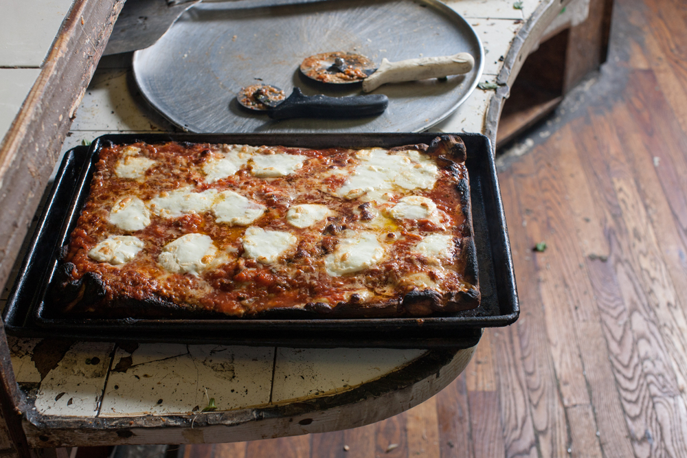 Di Fara's Square pie: unique and amazing.