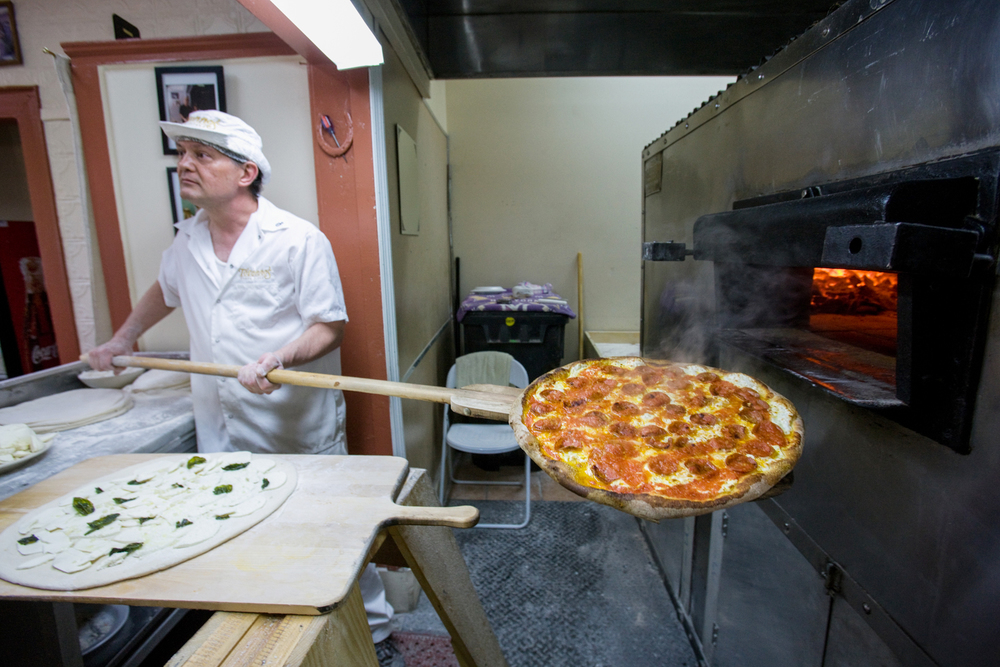 Totonno's in Coney Island has perhaps the best rendition around of New York pizza baked in a coal-burning oven.