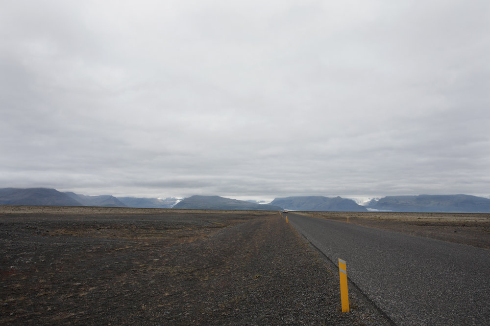 Glaciers from roadway