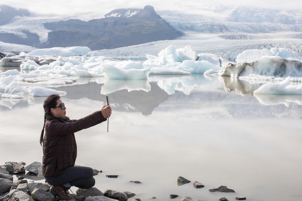 The Fjallsarlon glacier lagoon
