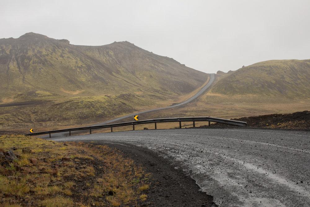 Roadway north of Reykjavík