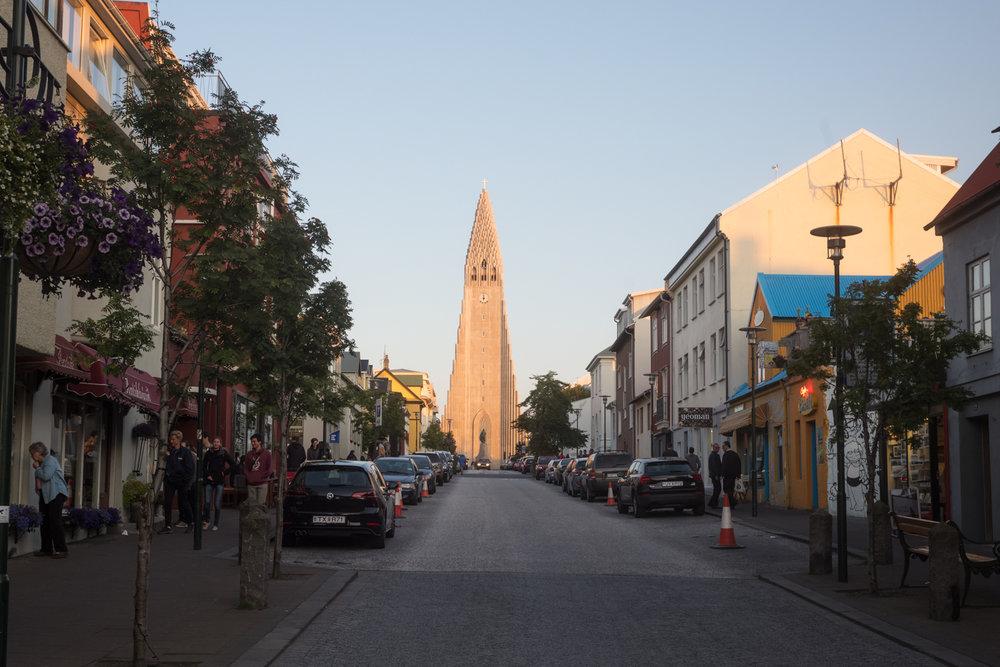 The Hallgrímskirkja church in Reykjavík