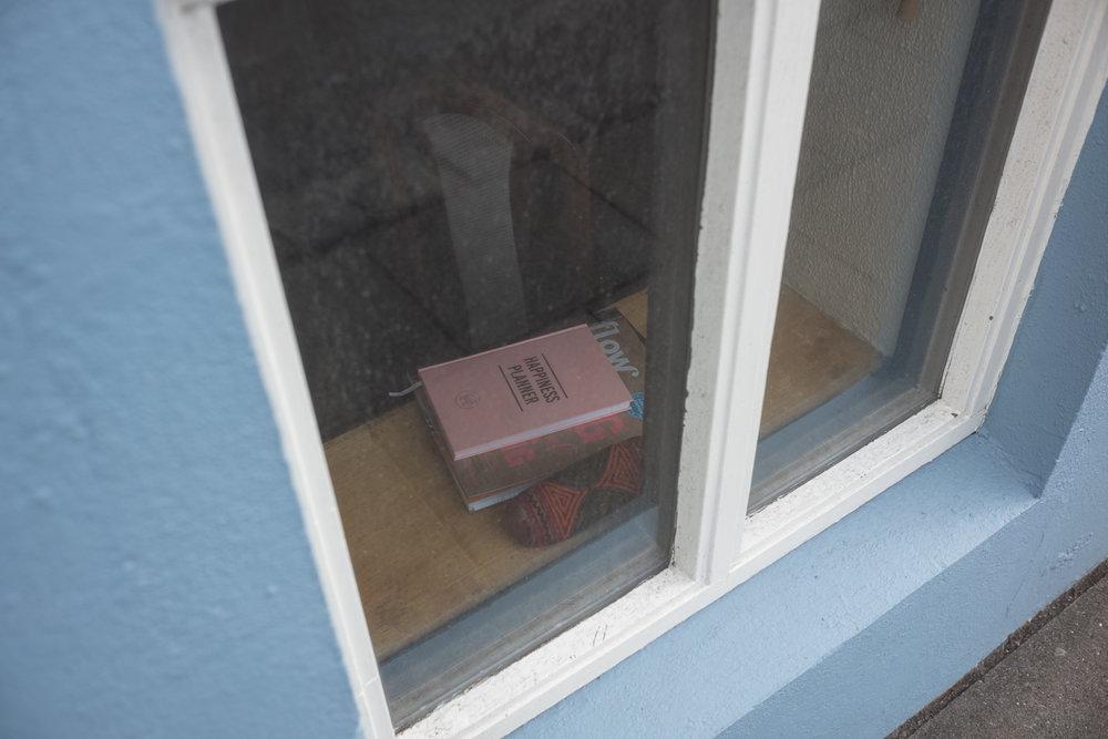 Book in a house window,Reykjavík