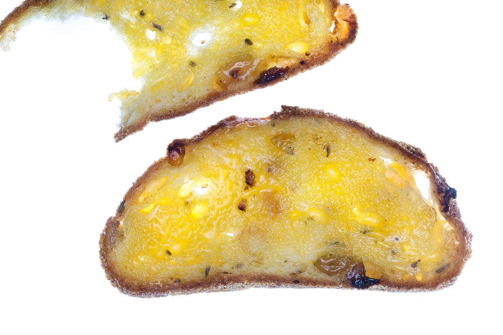 Translucent Raisin and Fennel Seed Toast