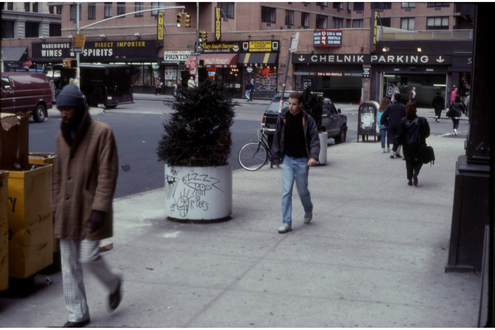 Astor Place, April 1990