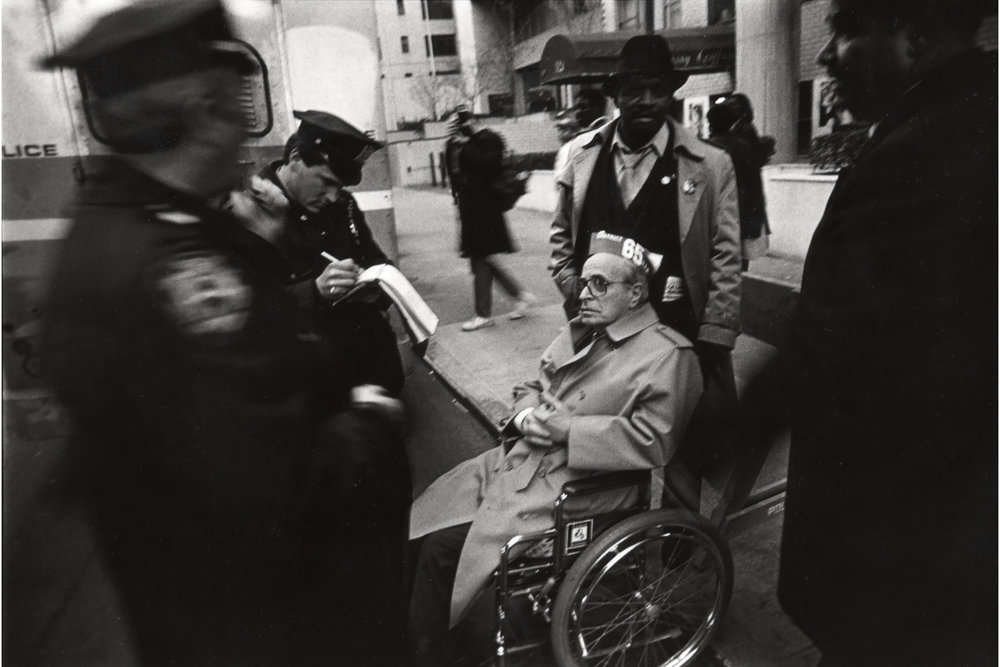 Man Volunteering for Arrest at South African Consulate, 1989