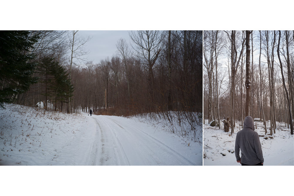 Man and Snow, Vermont