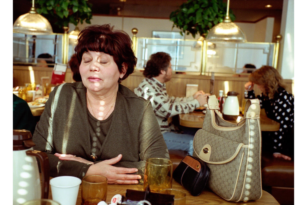 Woman at Perkin's Restaurant