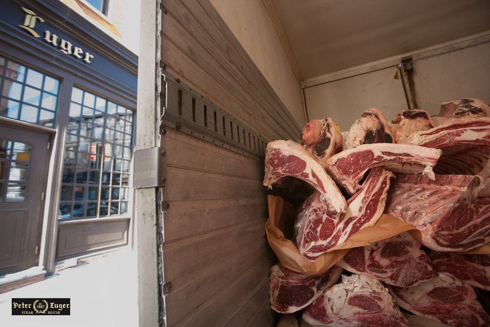 Peter Luger Steakhouse - Steak Delivery on Truck