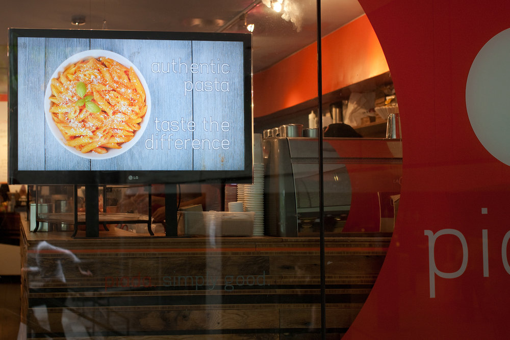 Michael Berman Food Photography - for Piada Restaurant Window Marketing Campaign and Website