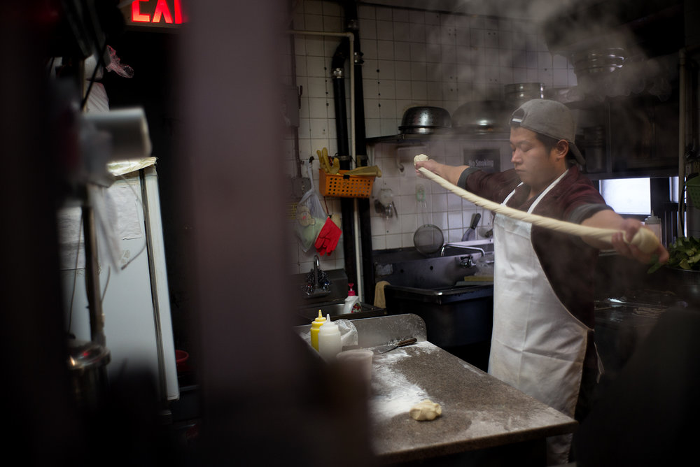 Making Hand-pulled Noodles, NYC Chinatown
