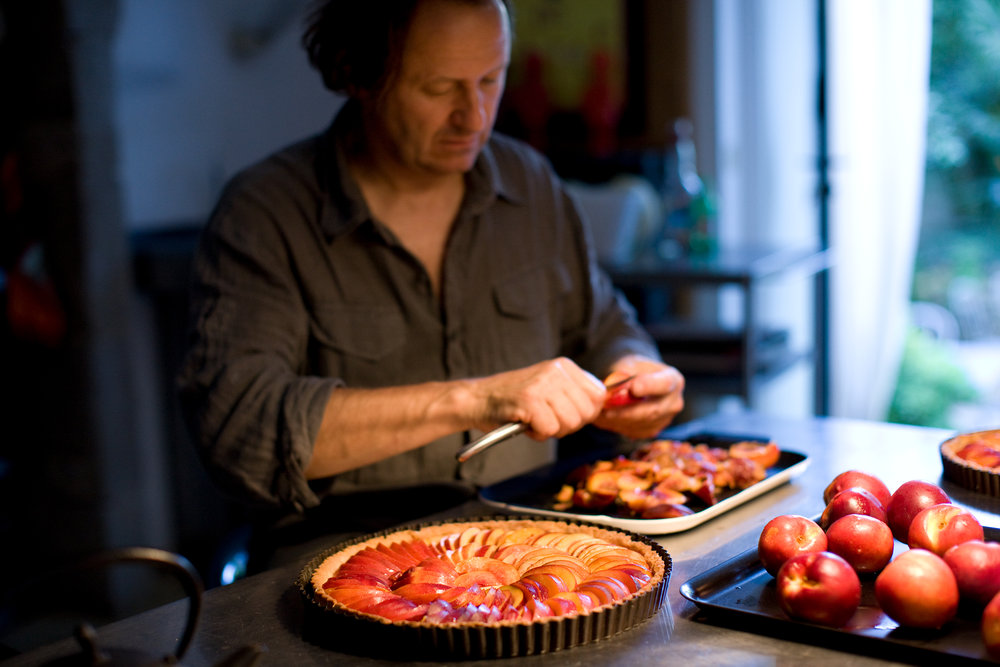 Man Making Nectarine Tarts