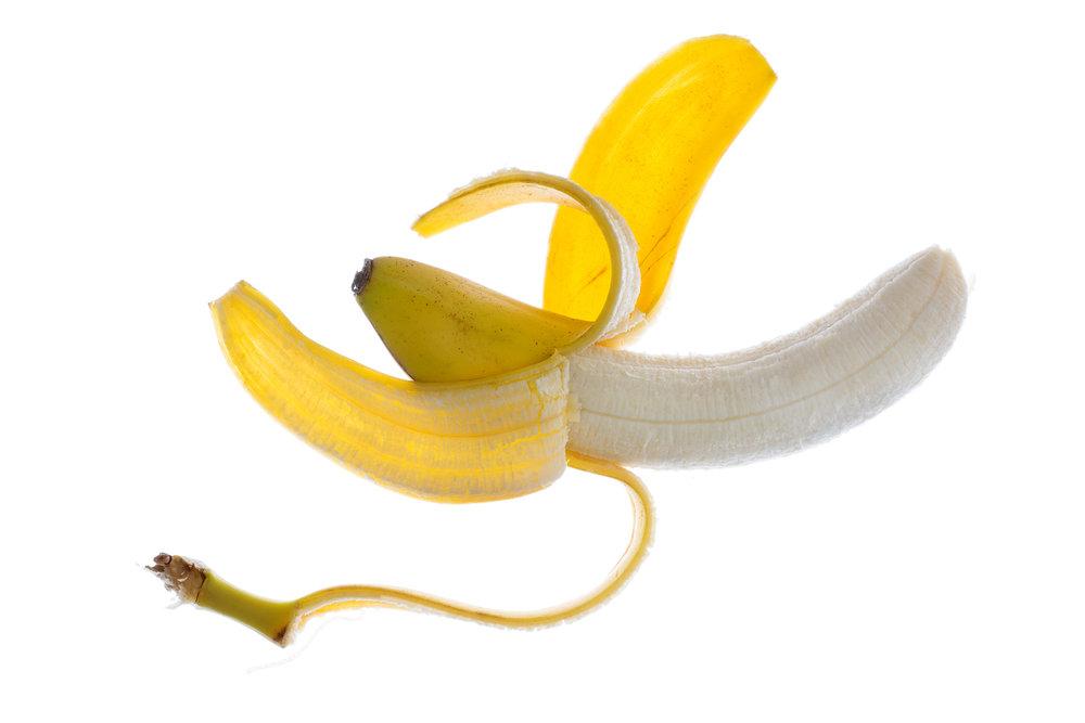 Translucent Peeled Banana