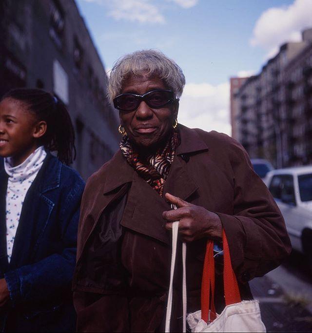 Marian - 1999, Harlem. Here she is with her granddaughter Lindsay, after dance class. * * #99snapshots #manhattan #nyc #mamiya6 #mamiya #harlem #nycpeople #newyorklife #ig_nyc  #documentary #realpeople #documentaryphotography #thenandnow #people_infinity #newyorkcitylife  #portrait  #documentaryfilm  #bestlife #liveyourbestlife #seniorcitizen #grandma #elderly #africanamerican #saturdaystyle #killinit #film #filmphotography #mediumformat #slidefilm #portraits_universe