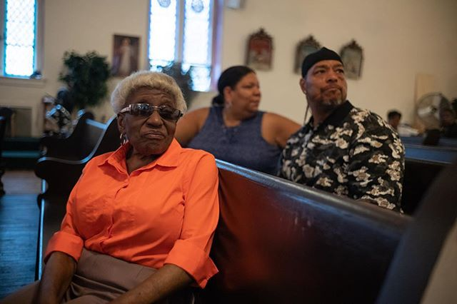 Marian - 2018, Resurrection Catholic Church, Harlem * * #99snapshots #manhattan #nyc #leica #leicam10 #harlem #religion #catholicism #church #catholicchurch #nycpeople #newyorklife #ig_nyc  #documentary #realpeople #documentaryphotography #thenandnow #people_infinity #newyorkcitylife  #portrait  #documentaryfilm  #nonagenarian #bestlife #liveyourbestlife #seniorcitizen #grandma #elderly #greatgreatgrandma #orange #portraits_universe