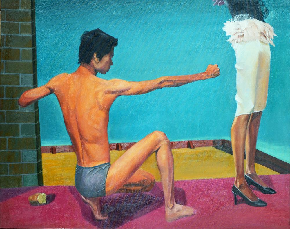 "Nguyen Van Phuc, ""Courtship"", 2009, Oil on canvas"