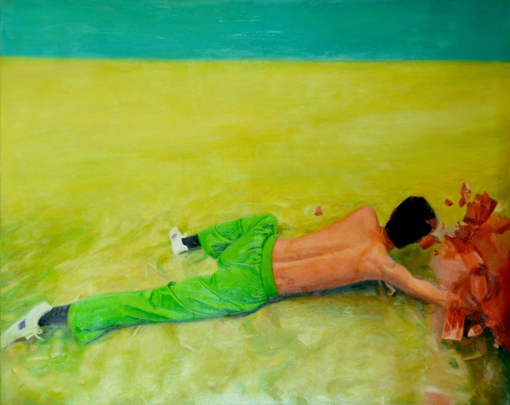 CUC_Nguyen Van Phuc_Sacrifice, 2008 Oil on canvas, 120 x 150 cm.JPG