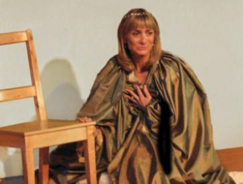 Jean Heard as Queen Adelaide at the King's Head Theatre, Islington