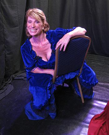 Julia Munrow as Fanny Cornforth in Rossetti's Women, Edinburgh Fringe 2015.