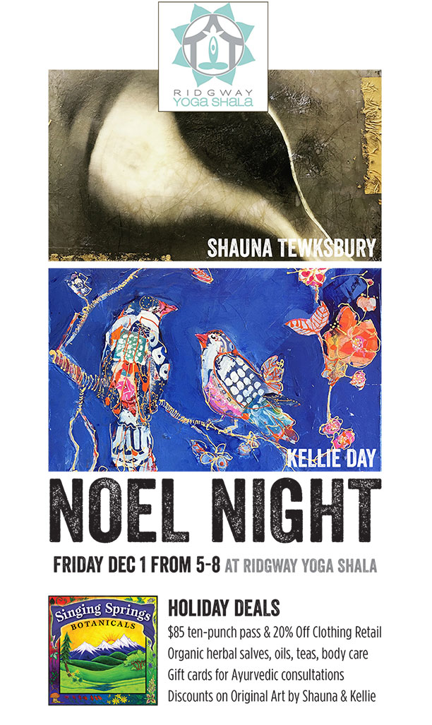 Events ridgway yoga shala noel night celebration malvernweather