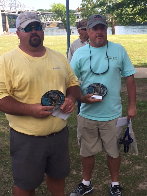 Second Place Winners - Willie Taylor and Shawn Davis of Jesse Stutts show off hardware