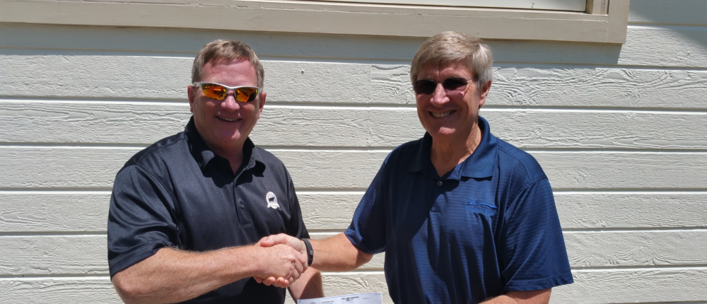 With much thanks to all of the sponsors, North Section President Joe Moon presented a check to Second Mile, a local charity that provides much needed help and service to those in need.