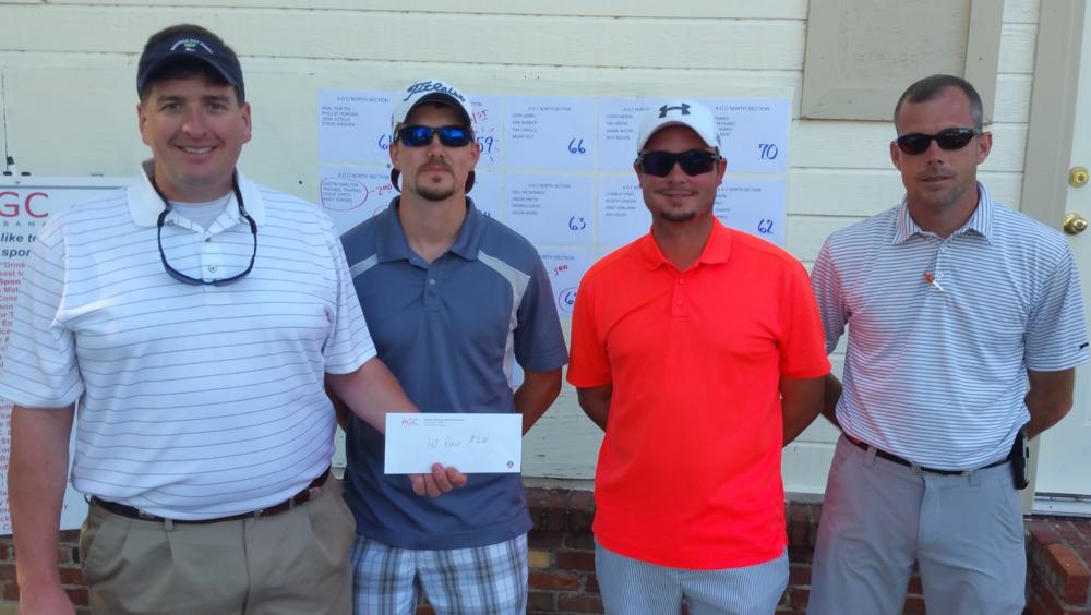 1st Place Team ofSpencer Glassco, Jeremy Rogers, Jason Thomason, and Blake Mozley