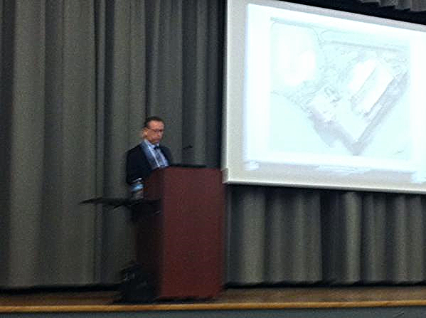 Craig Holloway of Earl Swennson Associates spoke to more than 30 members of the YCF and YAEC on March 27 at the Alabama Power Building in downtown Birmingham about the the build out of the current hospital building.  The building was shelled and shuttered after legal and financial troubles encountered by the original hospital owner.  The demands of patients and physicians with present-day hospitals combined with the sophistication of new technology in hospitals as compared to a decade required creativity and practicality in designing new build out.