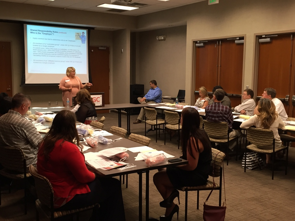 Andrea Powers speaks to HR Forum about compliance as employers for the Affordable Care Act.