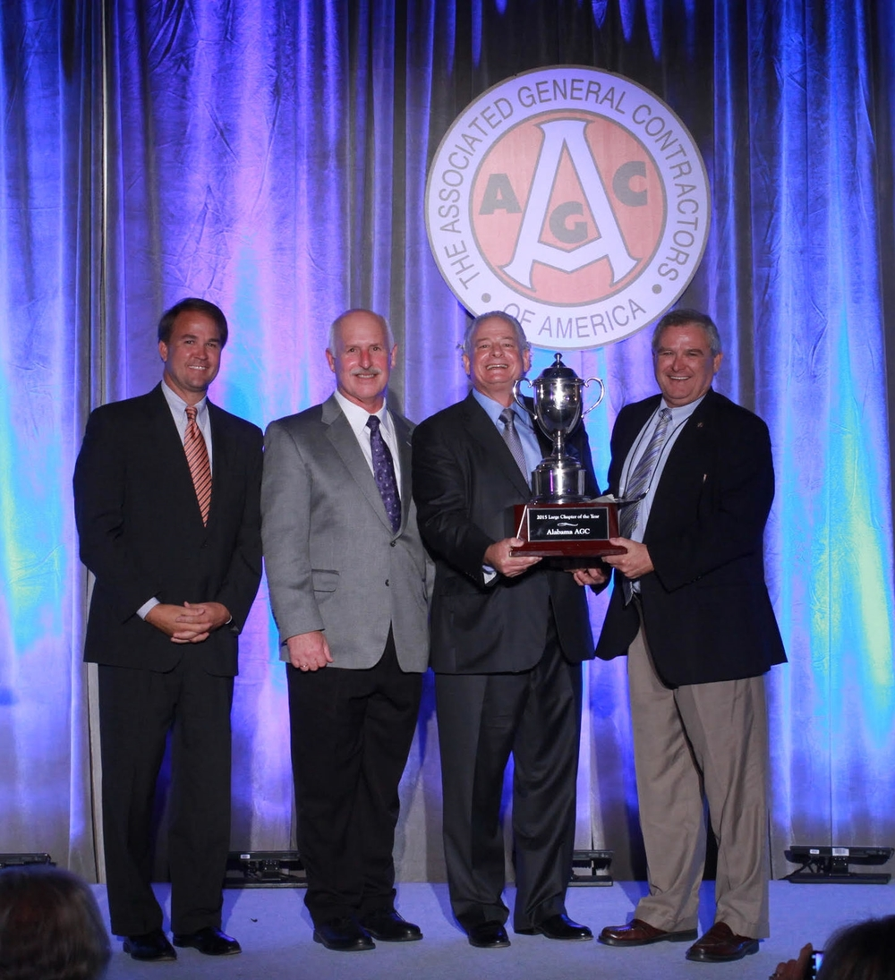 Billy Norrell, Gary Savage and Rick Pate accepting the Chapter of the Year 2014 award.
