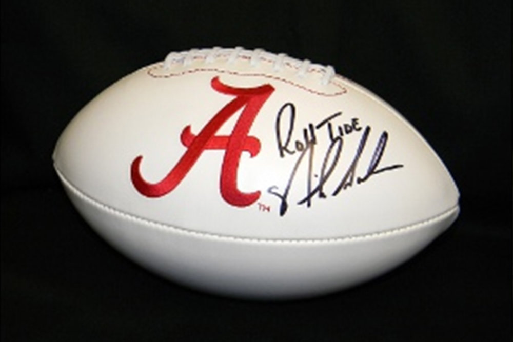 Alabama football signed by Nick Saban