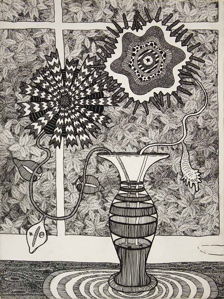 2015 - Vase, pen on wood panel, 8x6, 1000pxl.jpg