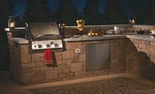 Grilling stations can be as elaborate or as simple as your space will allow.