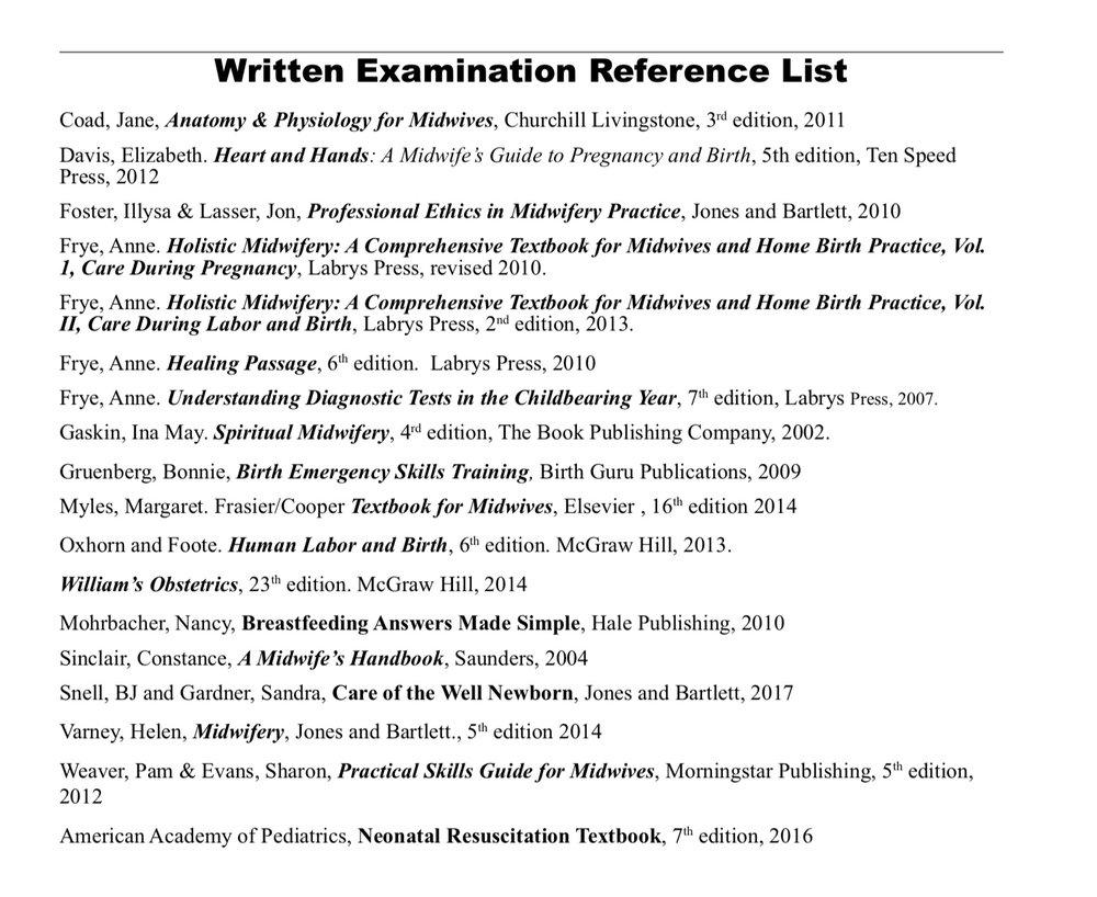 Written Exam Reference List.jpg
