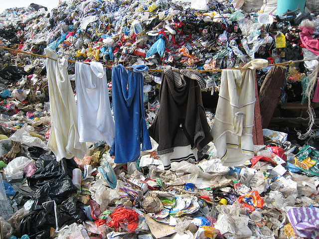 "steelfashion: In an age of ""fast fashion"" people dump 500,000 tonnes of clothes in landfill every year - compared to the two million tonnes bought in shops."