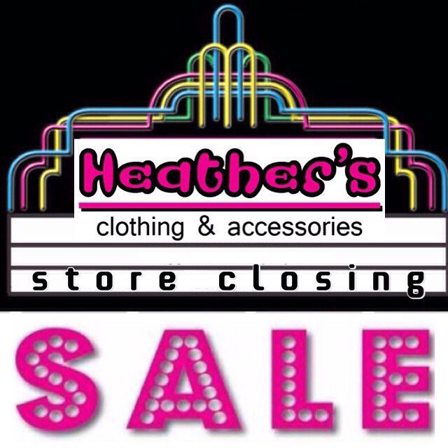 Sale 🛍Store closing. Going out of business ✔️ Everything is on sale! #sale #goingoutofbusiness #boutique #closing #shopheathers #storeclosing #shopsmall #limitedstock #thankyou
