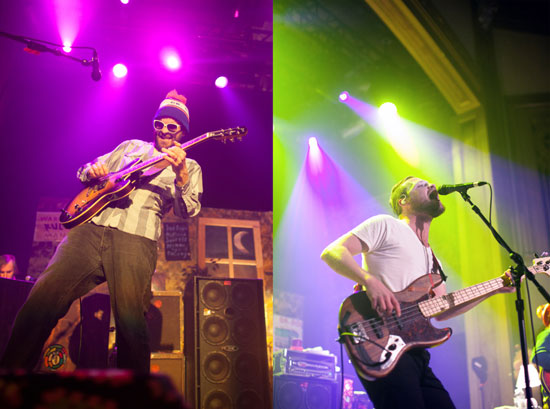 Dr. Dog's Frank McElroy and Toby Leaman perform at the Neptune on Valentine's Day. Photos by Laura Musselman.
