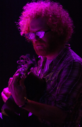 Marty Marquis of Blitzen Trapper at the Neptune Theatre in Seattle, WA on November 11, 2011. Photo by Kateri Town.