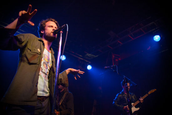 Father John Misty (Josh Tillman) performs both tricks AND illusions on the crowd at Neumos in Seattle, WA on May 7, 2012. Photo by Laura Musselman Duffy.