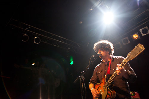 Lou Barlow of Sebadoh performs at Neumos in Seattle, WA on February 12, 2011. Photo by Laura Musselman Duffy.