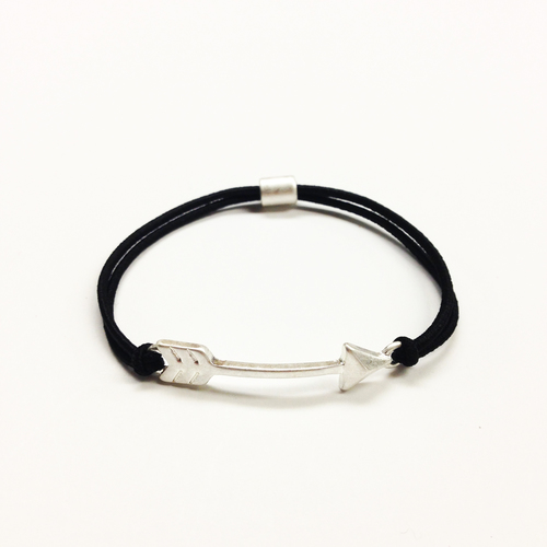 jewellery two dots arrow all bracelet silver