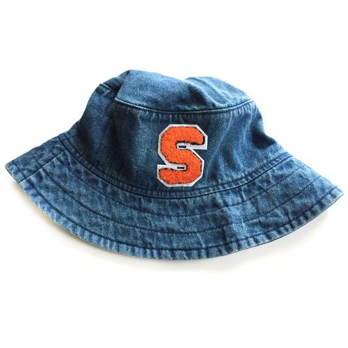 20dc11b6a90 Denim Bucket Hat With Initial Patch — JewelErry