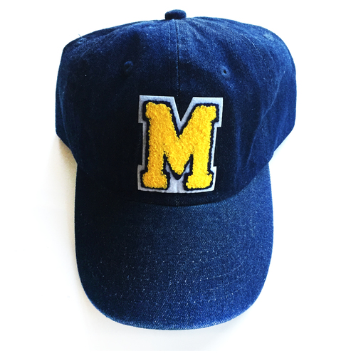 4ced42ba7b6 Blue Denim Baseball Hat With Initial Patch — JewelErry