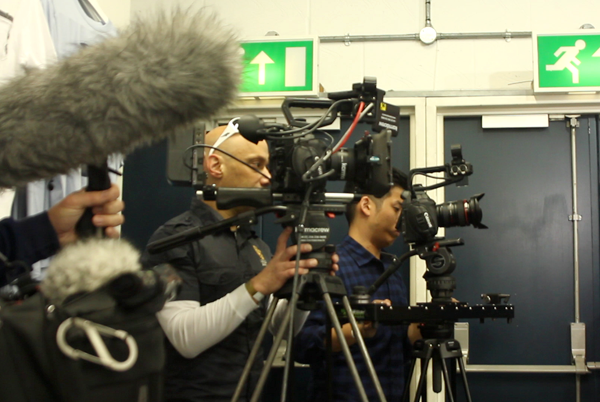 Multicam #CanonC300 and #CanonC100 shoot at the Spurs' #WhiteHartLane.