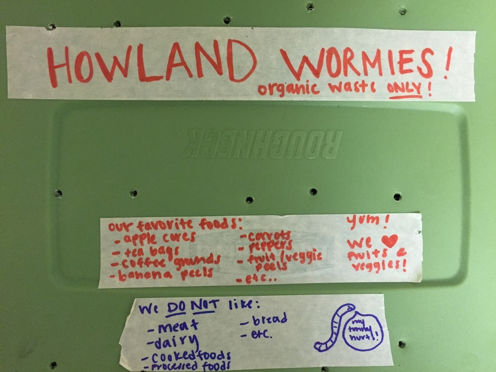 Worm bin at Howland House via Kerra Whitmill
