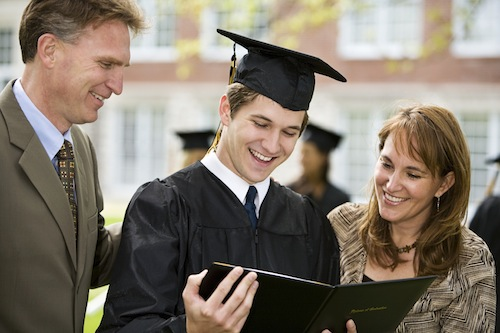 UBS Student Mattress Parents Son Diploma