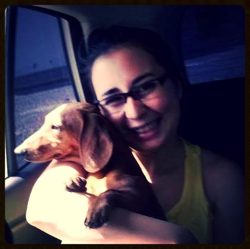 Balty y yo, primera foto juntas.