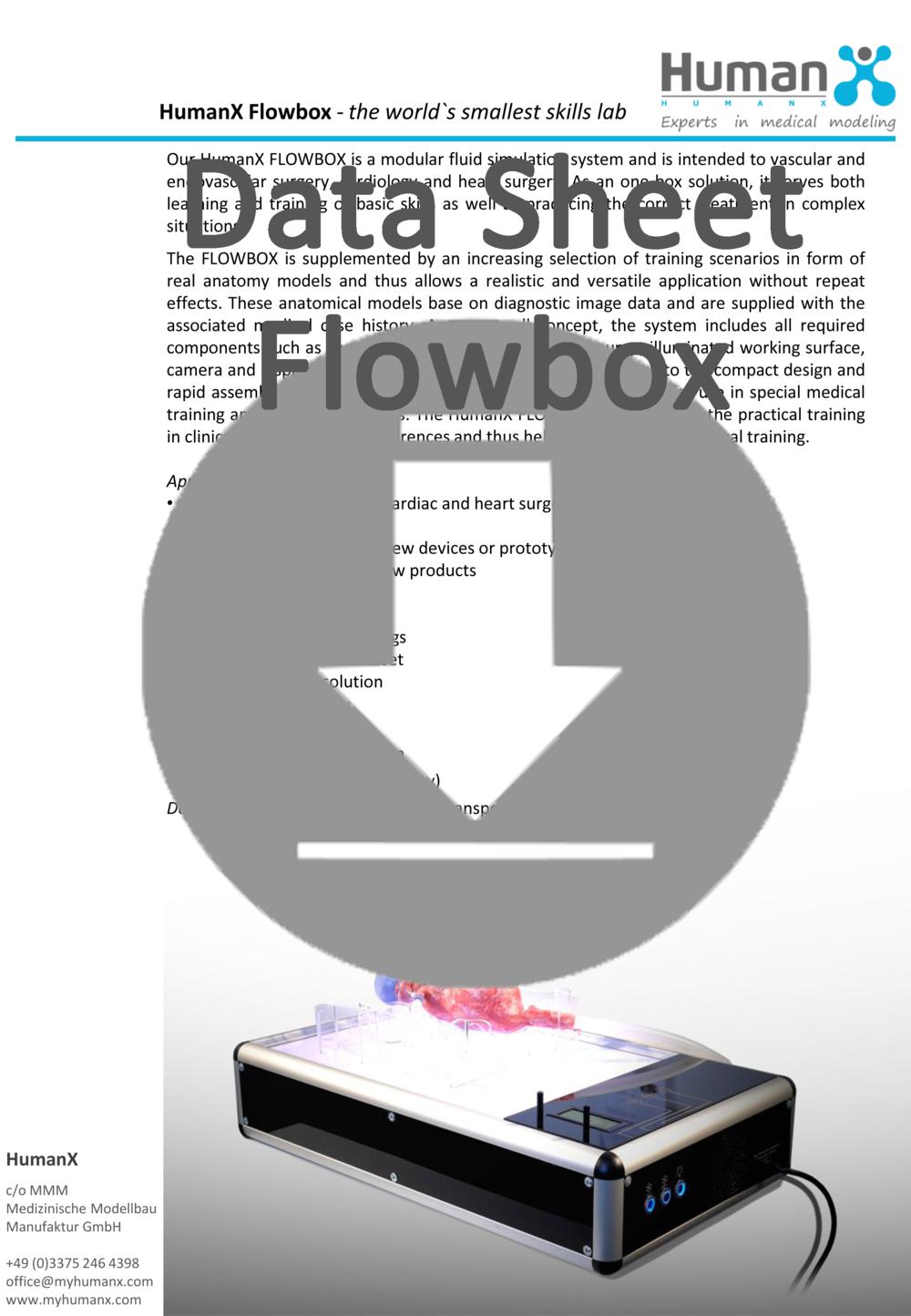 Data Sheet Flowbox HumanX